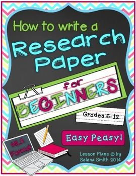 Research Paper For Beginners MLA School Students And English