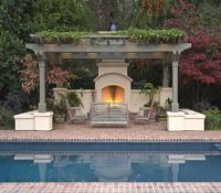Make An Adorable Fireplace in Pergola Deck for Coming ...