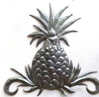 Metal Wall Decor - Pineapple Wall Art, Haitian Art, Metal ...