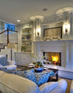 Blue and white beautiful living room also for the home pinterest rh