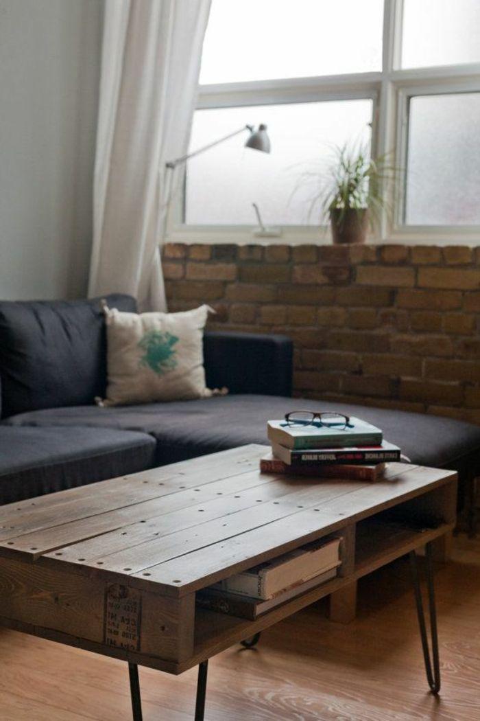 La table basse palette  60 ides cratives pour la fabriquer  Archzinefr  Salons Tables and