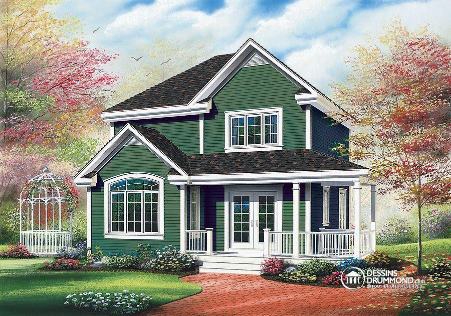 Plan De Maison Unifamiliale W2735 Champêtre Country House Style