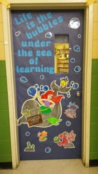 "My classroom ""Disney"" theme door"