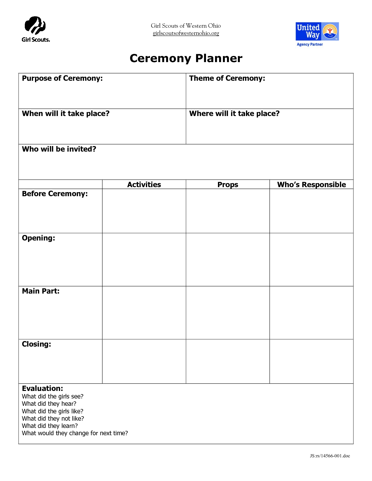 Inspiring New Boy Scout Committee Meeting Agenda Template