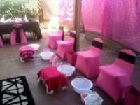spa party set up, spa party pedicure station, spa party ...
