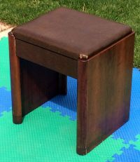 Vintage singer sewing machine cabinet 42 bench stool chair ...