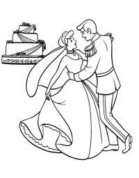 Disegno: Cenerentola Sposa. Disegni da colorare e stampare ...