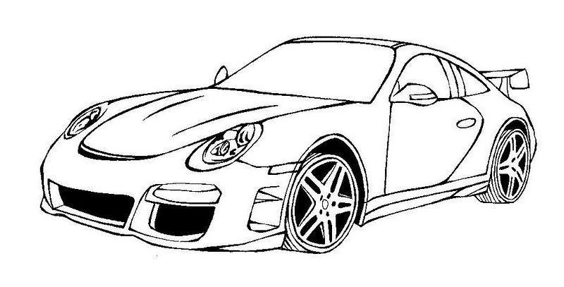 Auto Ausmalbilder Porsche 02