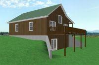 garage basement house plans | Country Cabin House Plan D68 ...