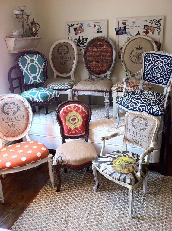Eclectic Dining Chairs For A Formal Dinninggame Table
