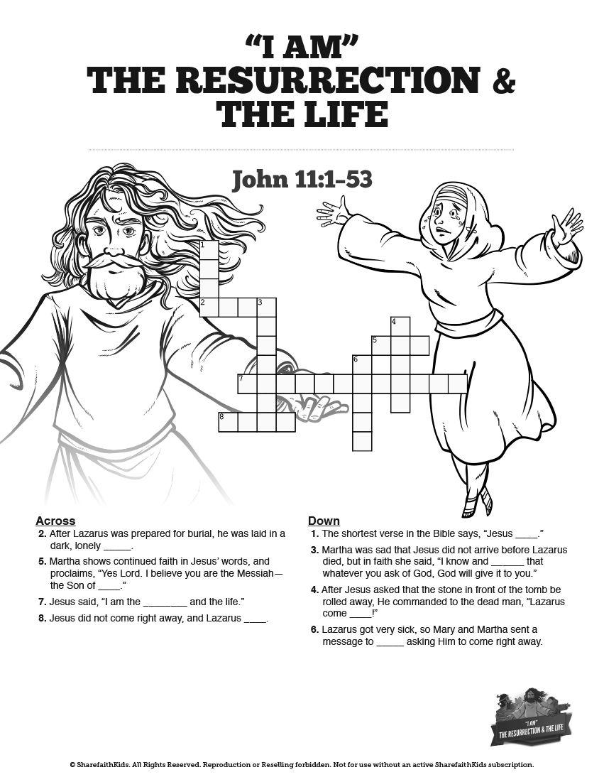John 11 I am the Resurrection and the Life Sunday School