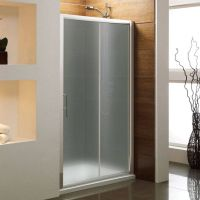 Bathroom Photo: Frosted Modern Glass Shower Sliding Door