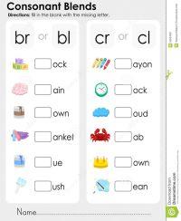 Consonant Blends Worksheets For Kindergarten - Scalien ...