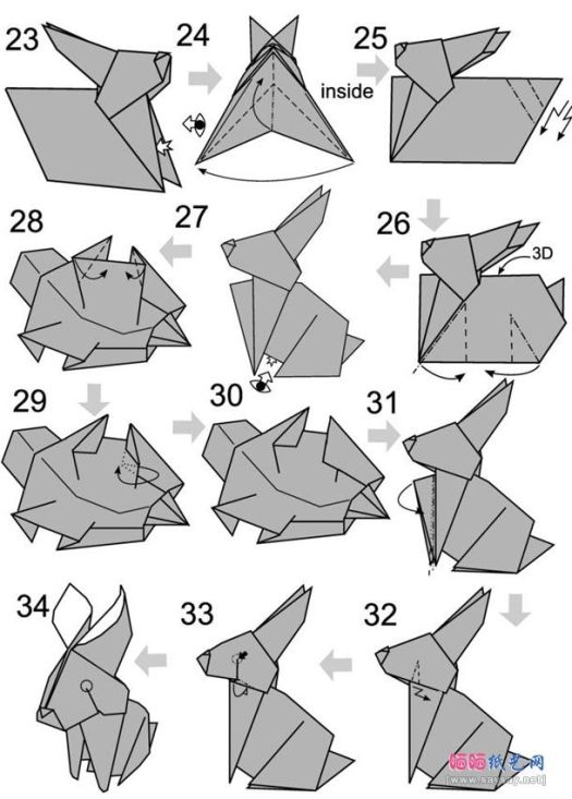 Money Origami Bunny Instructions Origami Tutorial Lets Make It
