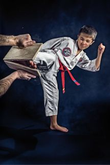 Boy Taekwondo Board Breaking