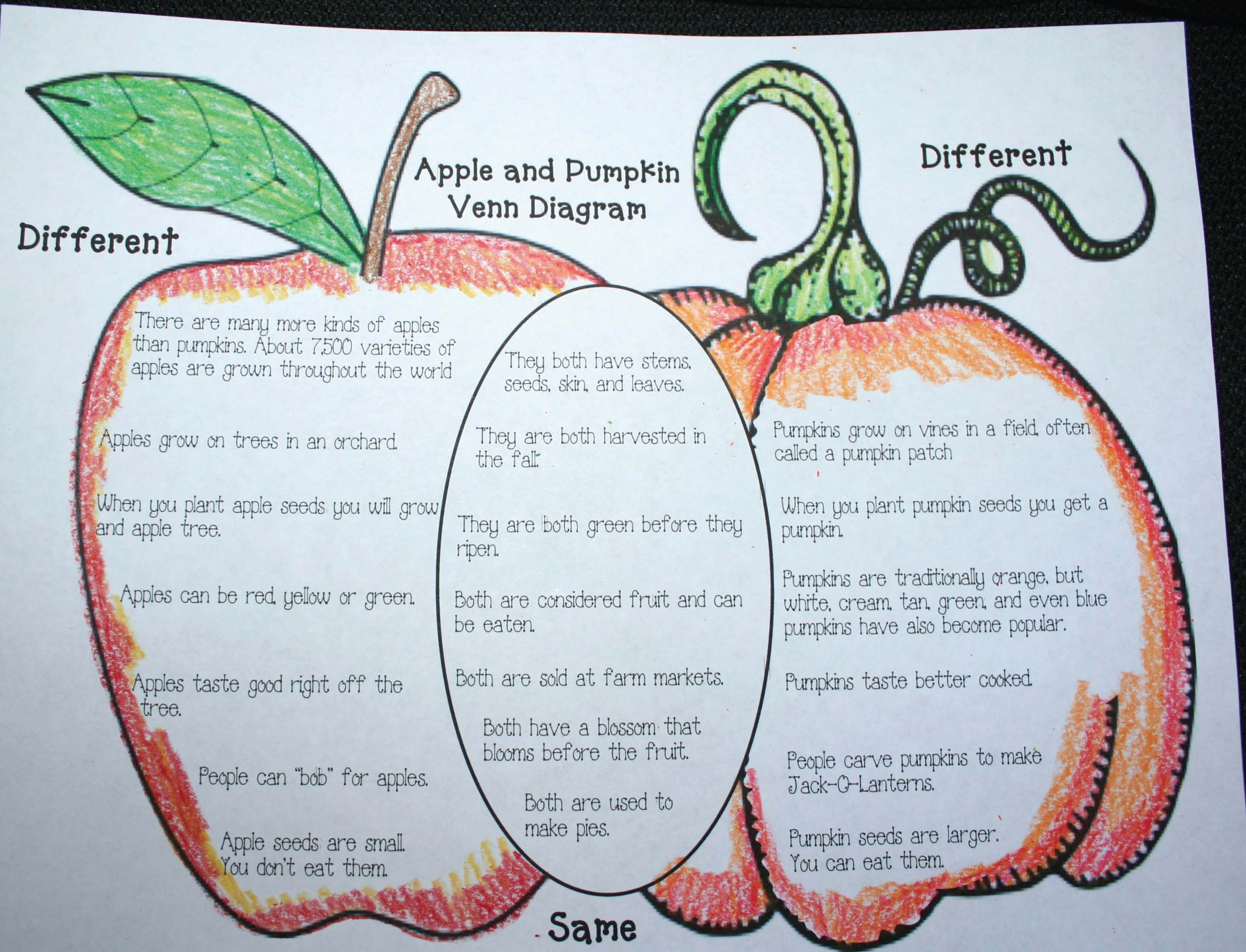 what is a venn diagram in writing oracle architecture pumpkin activities free apple and fun