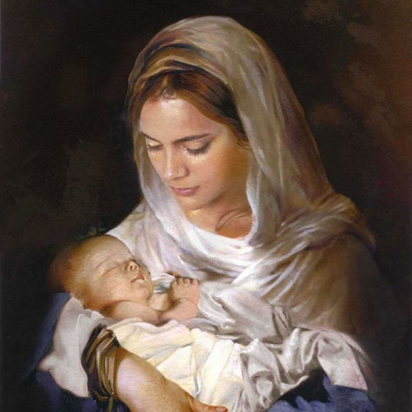Blessed Holy Mother Mary And Son Jesus. Pinteres
