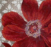 Love mosaic flowers.   Mosaic   Pinterest   Mosaic flowers ...