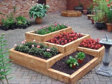 Tiered Gardens And Pots For Small Balconies And Gardens My