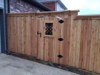 Decorative cedar gate | Fences | Pinterest | Cedar gate ...