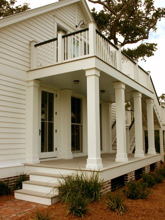 Pillar Shape Porch Balcony Design Pictures Remodel Decor And