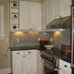 Black Subway Tile Kitchen Distressed Chairs Honed Absolute Granite Countertops And Gray
