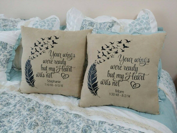 Personalized Memorial Pillow by BFunkyDesigns on Etsy  B