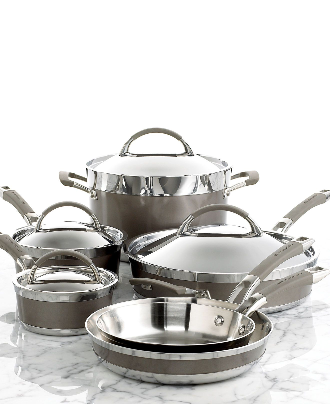 kitchen aid cookware space saving radiators pots and pans kitchenaid architect series pinterest