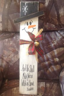 Pallet Board Snowman With Scripture Projects