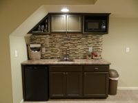 Basement Wet Bar Under Stairs - used stock cabinets and ...