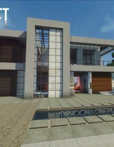 Minecraft easy modern house mansion tutorial download how to make youtube pinterest luxusne sidla moderne domy  also rh sk