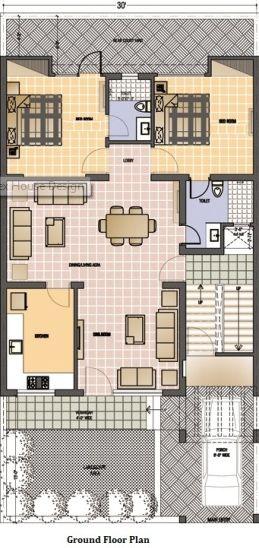 30 60 House Map Plan 1 Pinterest Floor Plans Ground Floor