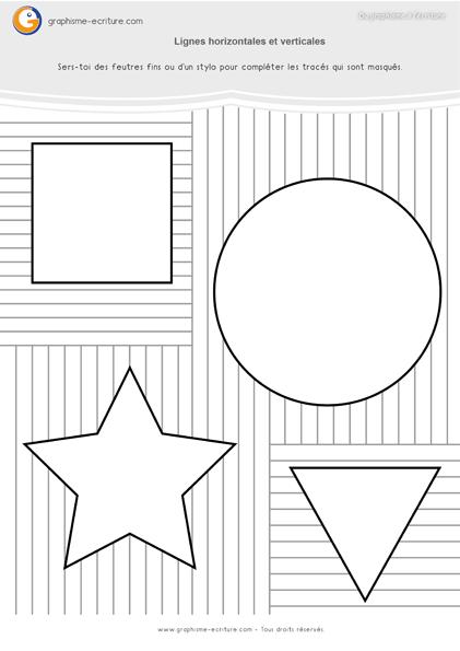 PDF Fiche de Graphisme Maternelle GS Les traits