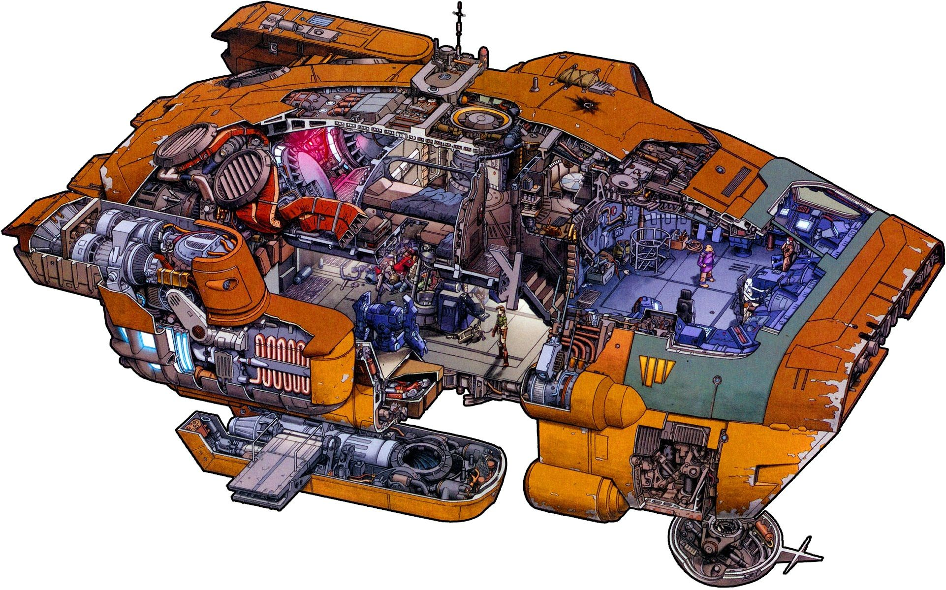 spaceship cutaway diagram kohler stator wiring sci fi cutaways google search technical concept art