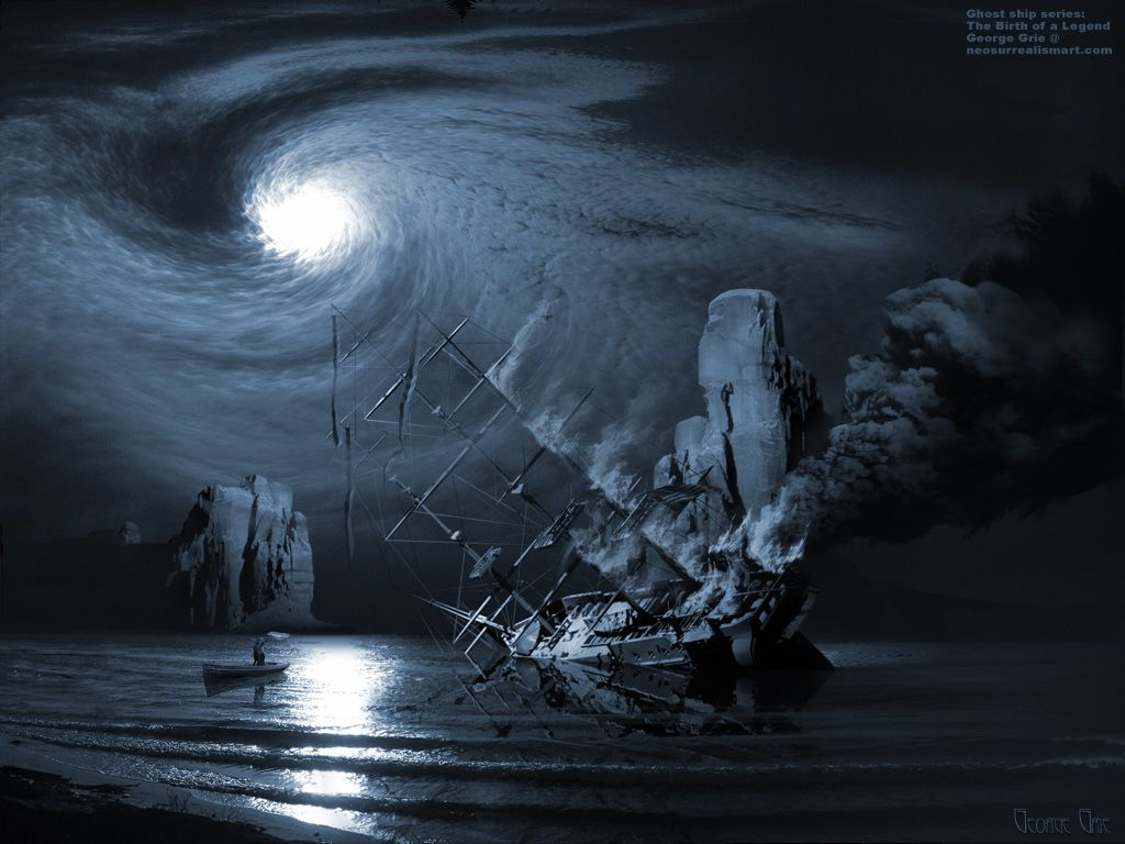 Ghost Pirate Ship Background
