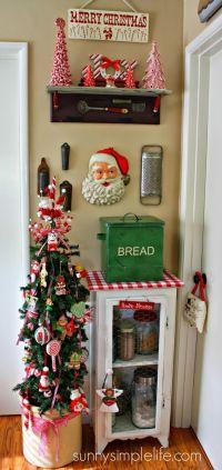 vintage kitchen Christmas tree | Christmas | Pinterest ...