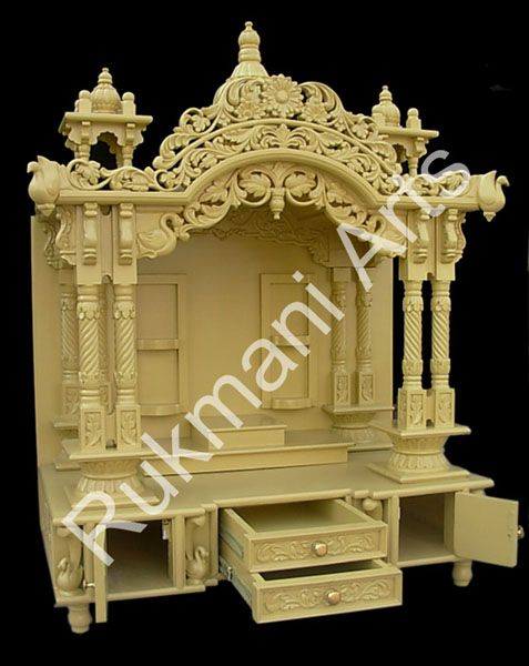 Wooden Carved Teakwood Temple Mandir Wooden Temple For The