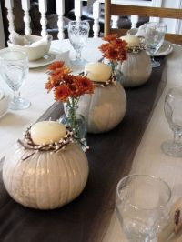 White Pumpkins centerpieces | fall wedding shower ...