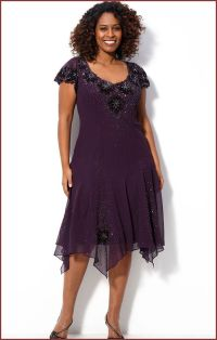 J Kara Sequin Special Occasion Dress for Plus Size