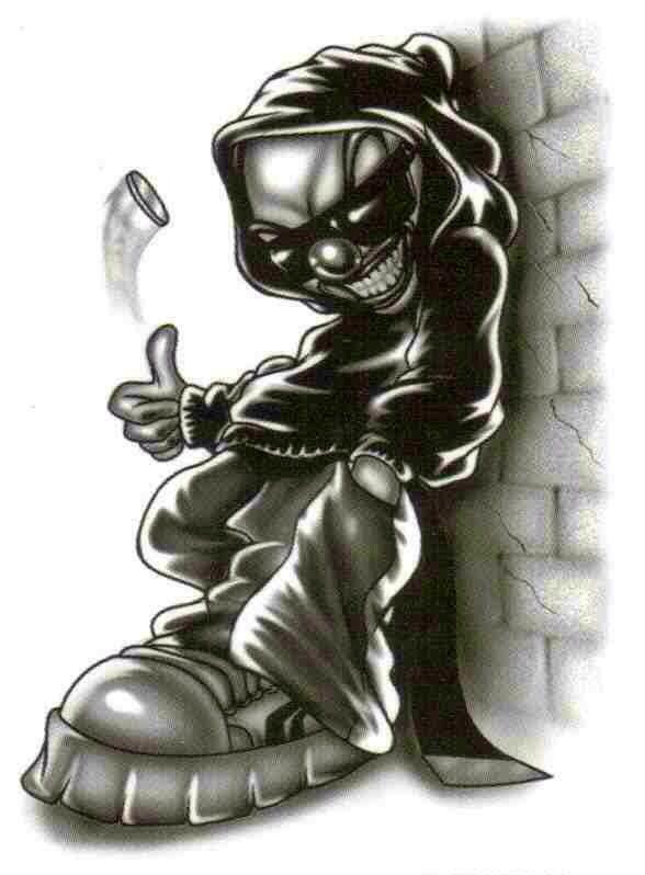 Girl Gangster Clown Drawings