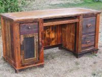 rustic office desks