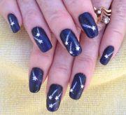 stunning star nail design