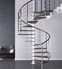 Apollo Stainless Steel Spiral Staircase > Custom Spiral ...