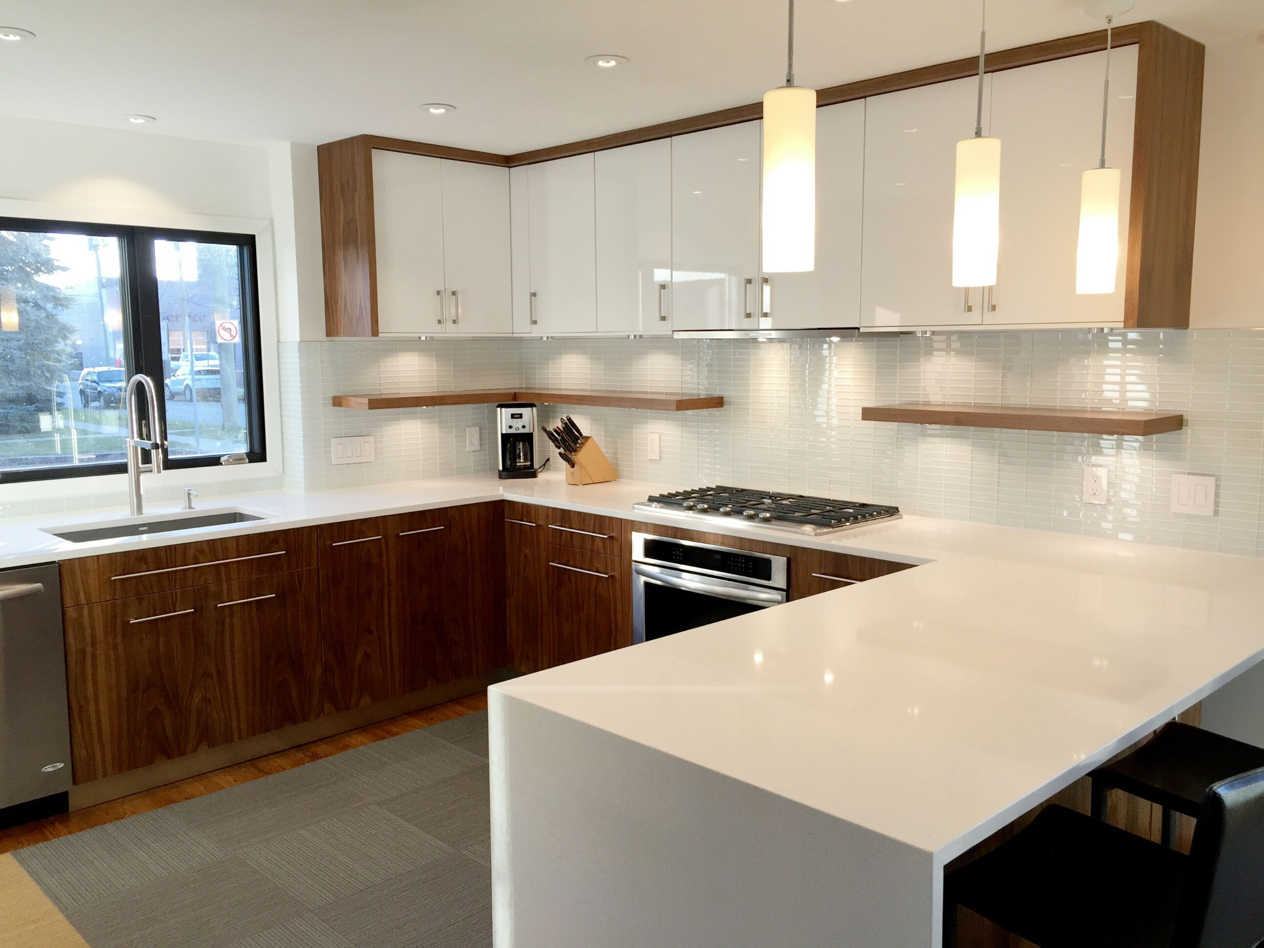 ikea kitchens cabinets kitchen orlando with semihandmade flatsawn walnut fronts