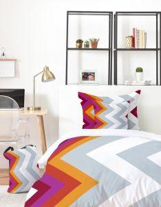 Bedrooms also karen harris modernity solstice warm chevron bed in  bag rh pinterest