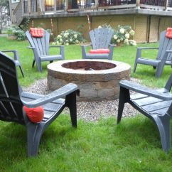 Fire Pit And Adirondack Chairs White Wooden Folding How To Build Your Very Own Stone
