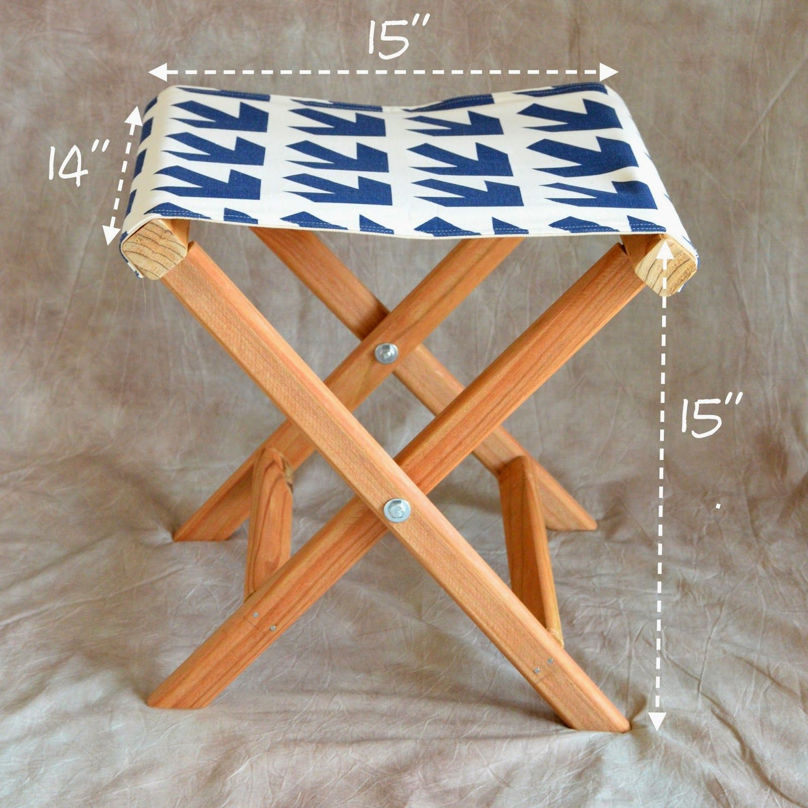folding chair rack diy walmart butterfly ikat bag tutorial for footstool or camp stool size up