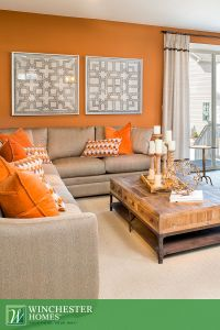 what color furniture goes with orange walls | Roselawnlutheran