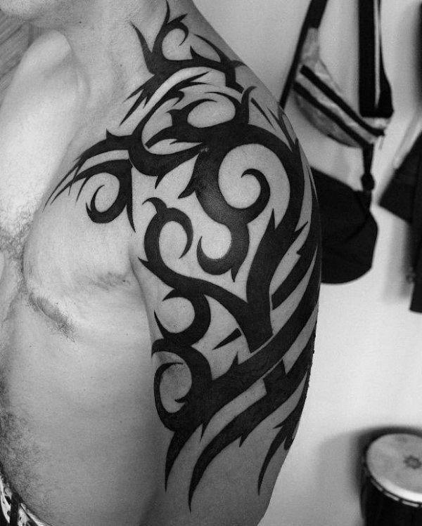 80 Tribal Shoulder Tattoos For Men  Masculine Design