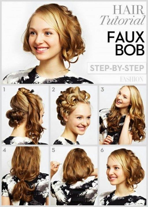 DIY Short Curly Hairstyle Hairstyles Pinterest Steps? Diy